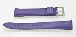 Fossil Stainless Purple Rubber Leather Replacement Clips Watch Band 18mm - $8.85 CAD
