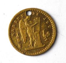 Frankrijk 10 Francs Play Money Trade Token 13mm Holed Marque De Jeu Ludwig - $29.69