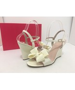 Kate Spade Iballa Women's Wedge Bridal Wedding Platform Sandal Ivory US ... - $106.92