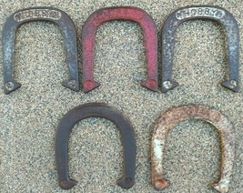 Lot of 5 Different Pitching Horseshoes - Hobby Wilson Royal - $45.24