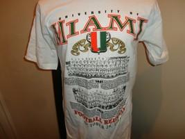 Vtg 1994 RARE 1961 - 62 Football REUNION Miami Hurricanes NCAA T-shirt Adult L - $49.45