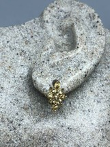 Vintage Deco Handmade Genuine Citrine Golden 925 Sterling Silver Stud Earrings - $75.24