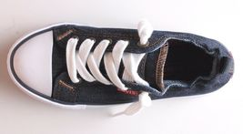 NEW Levi's Denim Blue Girls Stan G Canvas Sneakers Gym Shoes New in Box 1091100 image 7