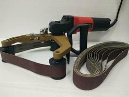 Pipe Tuber Polisher stainless steel Wood sander wet dry 110 sanding belt... - $217.79