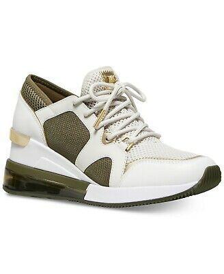Michael Kors MK Women's Liv Trainer Extreme Mesh Sneakers Shoes Cream Multi