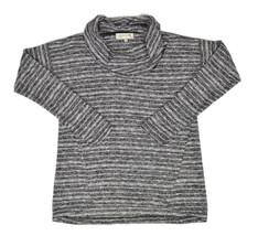 Jones New York Womens Black Grey Striped Cowl Neck Sweater XL XLARGE $59... - $19.79