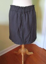 Ladies Gap zip front purple graphic black spring summer short skirt 14 l... - $9.87