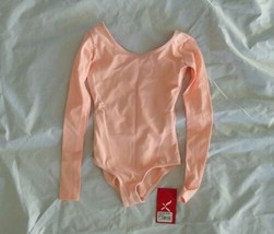 Capezio Girl's The Dancemaker Lingh Pink Long Sleeve Leotard I/CH - $26.64