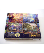 Ceaco 4-in-1 Multi-Pack Thomas Kinkade Disney Dreams Collection Jigsaw P... - $12.99