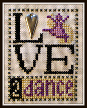 Love 2 Dance Love Bits cross stitch chart Hinzeit - $6.00