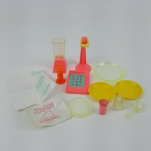 Barbie Ice Cream Shoppe Dishes Soda Fountain Register Scoop 1986 Accesso... - $9.99