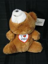 RUSS BERRIE & CO CARESS SOFT PETS STUFFED PLUSH BROWN TEDDY BEAR I LOVE ... - $26.92