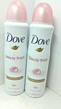 Lot Of 2 Dove Deodorant Antiperspirant Spray 48 Hour Beauty Finish - $12.11