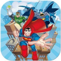 DC Super Friends Lunch Dinner Plates 8 Per Package Birthday Party Suppli... - $6.88