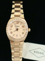 Fossil Women's Colleague Rosetone Stainless Steel Watch AM4508 - $79.00