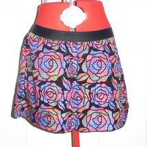 LARGE Aeropostale Bright Velour Flare Mini Skirt Multi Color Plaid - $9.85