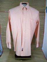 TOMMY HILFIGER Original Oxford Men Dress Shirt sz M 15½/32-33 peach cotton - $9.48