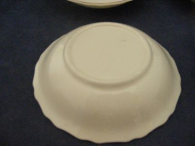 "6 Canonsburg Pottery Keystone Pink Roses Gold Trim 5 1/8"" Fruit bowls"
