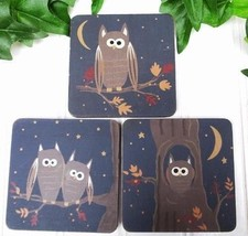 Set Of 3 Owl Magnets Country Kitchen Refrigerator Midnight Blue NEW - $4.50