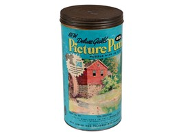FREE SHIP: Vintage Jigsaw Puzzle in Original Canister - Deluxe Guild Ser... - $14.03