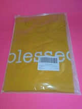 Fall Autumn Blessed Yellow Bella Canvas Womens T Shirt Christian Faith  (sizes)  image 2