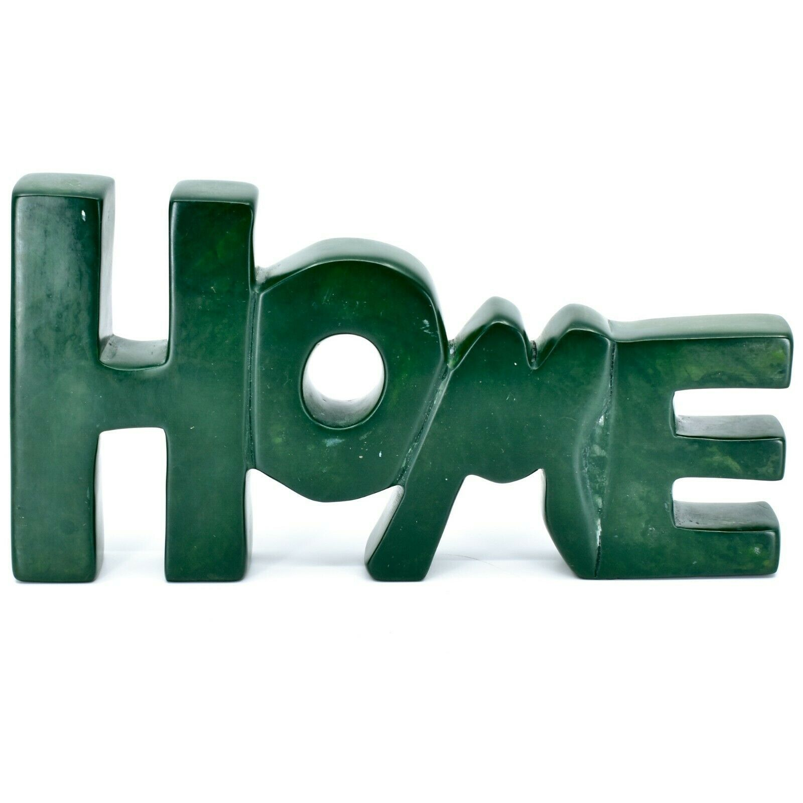 Vaneal Group Hand Carved Soapstone Green HOME Standing Word Paperweight