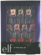 New E.L.F. 10 Piece Nail Set Mix and Match Gorgeous Nail Polish Colors NIB