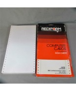 Approx. 500 Rediform Continuous Index Cards, Original Box, 1984 - $32.71