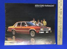 Vintage 1978 Ford Fairmont Car Dealership Brochure Information Booklet S... - $7.51