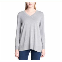 Lots of 3 DKNY Jeans Ladies V-Neck Long Sleeve Soft Pullover Ht Gray Sweater S - $34.08