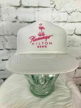 Flamingo Hilton Reno Unisex One Sz Snapback Hat White Meshback Trucker B... - $24.74