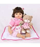 CHAREX Realistic Reborn Baby Doll, Lifelike 18 inch Vinyl Newborn Doll, ... - $67.65