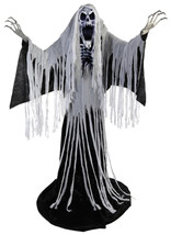 Animated Life Size 76 inch TOWERING WAILING Reaper Halloween Prop  SEE V... - $186.64