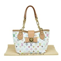 Louis Vuitton White Monogram Multicolore Annie MM Tote Bag - $910.80