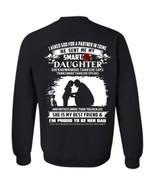 I Asked God For A Partner In Crime He Send Me My Daughter G180 Sweatshirt Back - $31.03 - $38.55