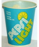 Vintage paper cup PEPSI LIGHT Pepsi Cola 4oz size unused new old stock n... - $8.99