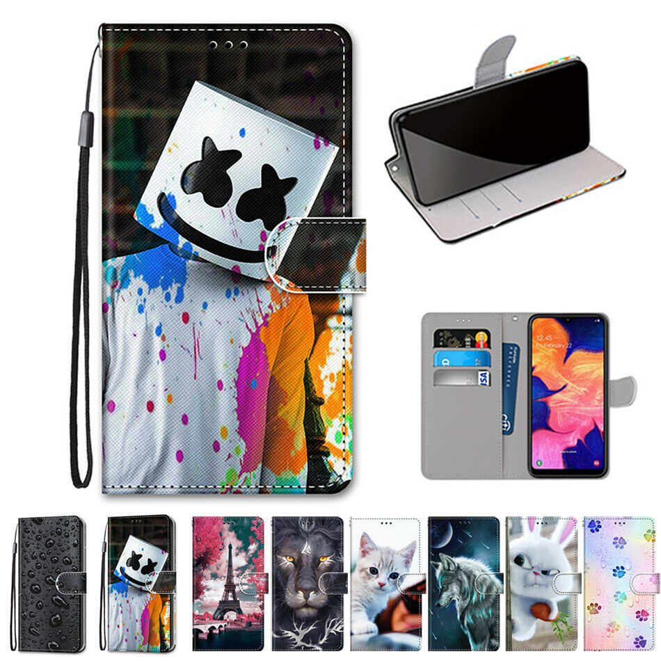 Primary image for For Samsung Galaxy A10 A10S A20S Case Pattern Wallet Leather Strap Stand Cover