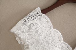White Cap Sleeve V Neckline Lace Tanks Boho Wedding Bridesmaid Tops Covers-plus  image 7