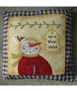 Christmas Decor C1364WWW-Warm Winter Wishes Tag Pillow - $12.95