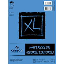 Watercolor Pad Fold Over Binding XL - 9 x 12 Inches - 30 sheets of 140lb... - $15.33