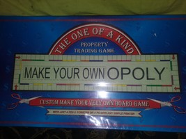 MAKE YOUR OWN OPOLY BOARD GAME...SEALED..NEVER USED - $23.38