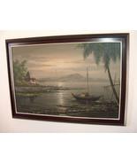 Pulido Sanchez Philippines Artist Oil Canvas Painting Art Manila Phil 80... - $394.99