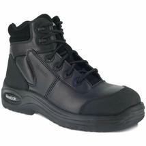 "Reebok Men'S Trainex 6"" Lace-Up Work Boot Composition Toe Black 9 Ee Us - $162.68"