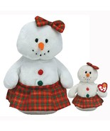 Coolstina The Snowgirl Ty Beanie Baby and Buddy Set MWMT Christmas Retired - $21.73