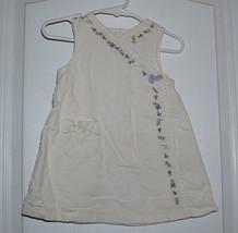 Gymboree Girls Jumper Dress Sz 6-12 Months Fun in Snow Embroidered Bird ... - $7.69