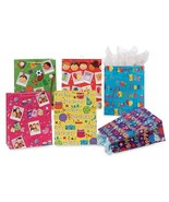 10 1/2W x 13H x 5 1/2G Large Snappy Birthday Assorted On Glossy Gift Bag... - $185.29