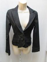 Forever Twenty One 21 black striped casual jacket --b#316 - $5.93