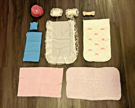 Mattel Inc 1987 Barbie Bedding Blankets Pillows Sheets Ribbons Roses Bean Bag - $29.70