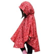 Toddler Rain Wear Cute Baby Rain Jacket Infant Raincoat RED Stars S (80-100 CM)