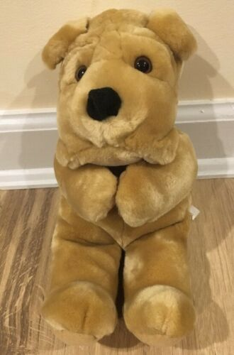 Carlton Cards Dog Stuffed Animal Plush Toy Tan Brown Beige